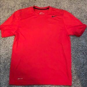 Red Nike dri-fit shirt